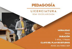 Licenciatura Semi escolarizada en Pedagogía